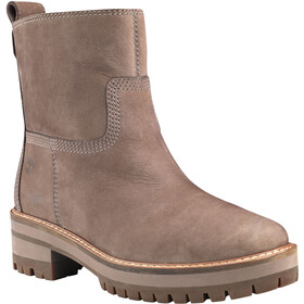 Timberland Courmayeur Valley Faux Fur Boots Women taupe gray